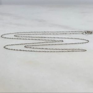 "NEW 14K WHITE GOLD 18"" Chain Necklace .40 gram"